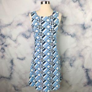 Mahi Gold Sleeveless Printed Dress
